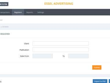 ESSEL ADVERTISING (accounting application)