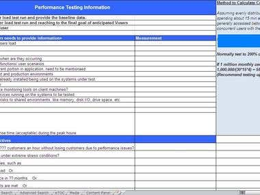 Web Application Performance & Load Test