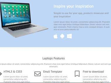 Laptops Marketing Website