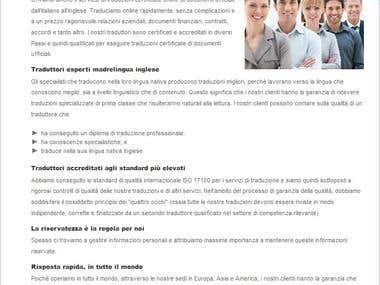Scrittura SEO per Agenzia di Traduzioni