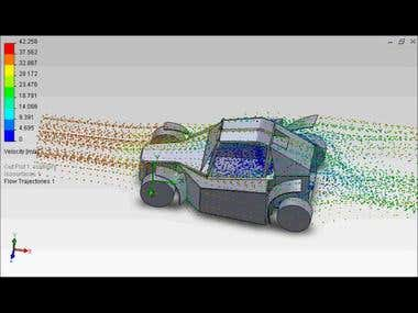 SolidWorks FlowSimulation of a rally buggy car