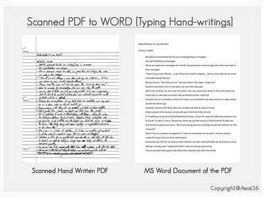 Handwritten scanned PDF to WORD