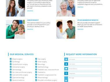 County Medical Website [Responsive]
