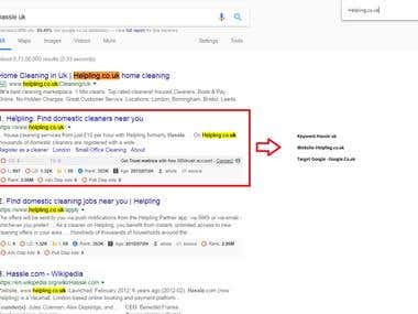 Helpling.co.uk Top Ranking in Google.co.uk
