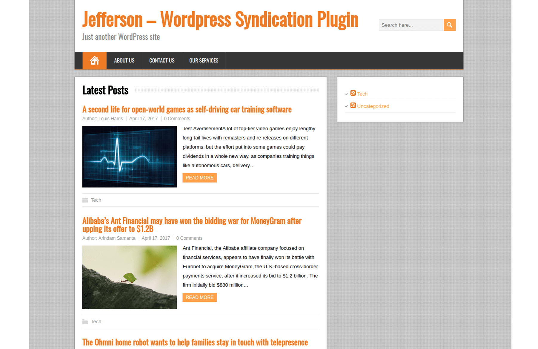 Article Syndication Wordpress Plugin