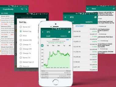 Crypto Buddy application