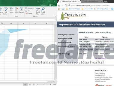Data Entry ( Web Research )