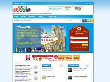 Website with k2, forum and nice template view