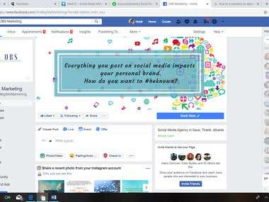 Facebook Business Page creation and management for 2 weeks.
