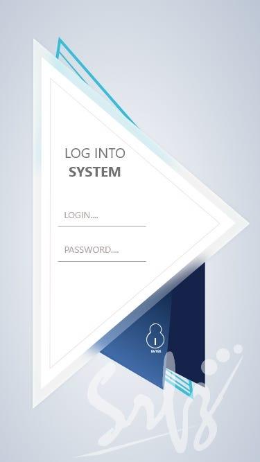 log in ui for mobile app or website or webapp.