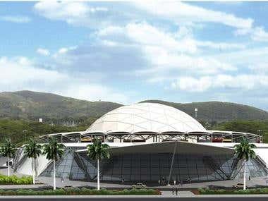 Simon Bolivar Central Station. Intermodal transportation sta