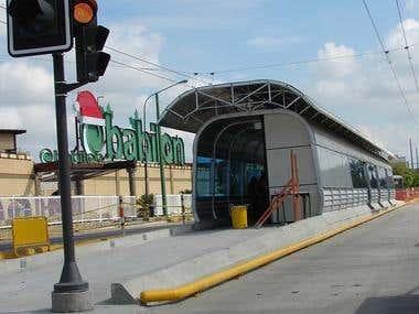 Station type mass transport system of Barquisimeto