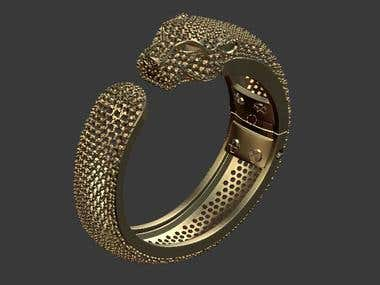 panther bracelet for 3d printing.