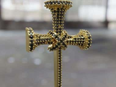 Cross of Nails - cruz de clavos for 3d printing