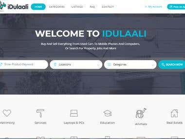 Classified website (http://idulaali.com)