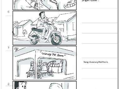 Storyboarding samples