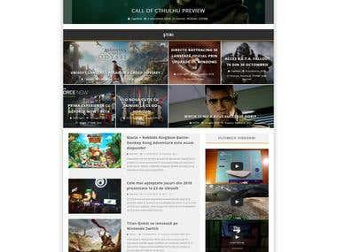 Wordpress design for gaming site
