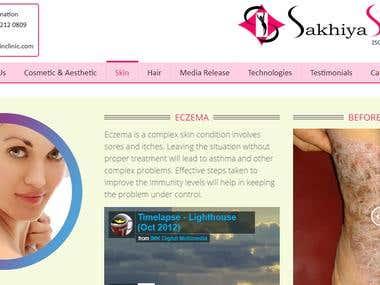 Sakhiya skin clinic WordPress Website