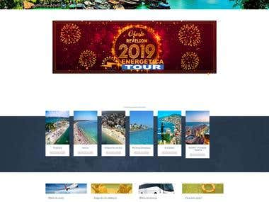 Wordpress Travel Agency website