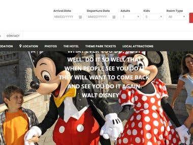 DIXI ORANGE COUNTRY HOTEL WordPress Website