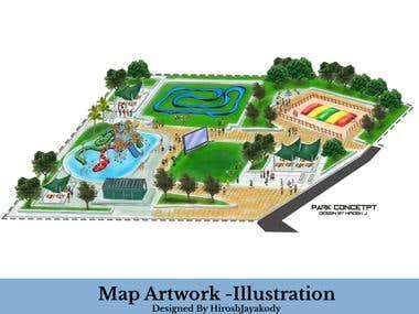 Map - Cartography - Landscape Illustrations - Concepts