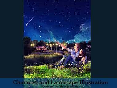 Concept - Character - Landscape illustration