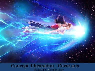 Concept , Character Art , Digital illustrations -Cover art