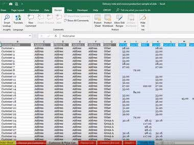 How to produce invoices through Excel