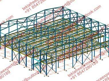 COMPOSITE SLAB PORTAL FRAME BUILDING DESIGN AND FABRICATION