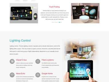 Wordpress Website for Electronics Device
