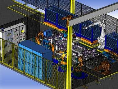 Tilting weld fixture 7466 BIW-AA