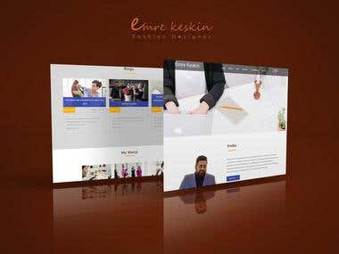 Emre Keskin - Fashion Designer Website (Blog & Portfolio)