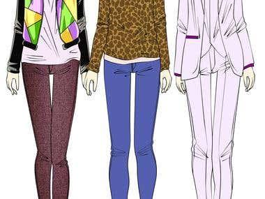Fashion Illustrations. Digital