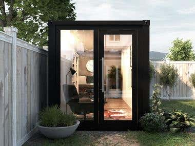 Backyard Container Office - Ireland