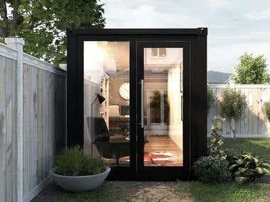 Backyard Container Office - Ireland
