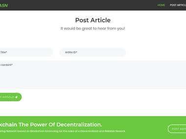 Blockhain Based Article Sharing