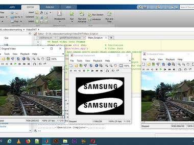 Video Watermarking using Matlab
