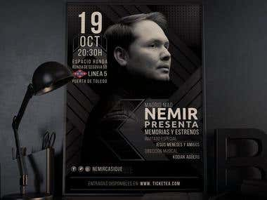 Nemir and Friends Concert Advertising