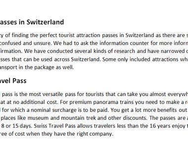 Tourist Passes in Switzerland