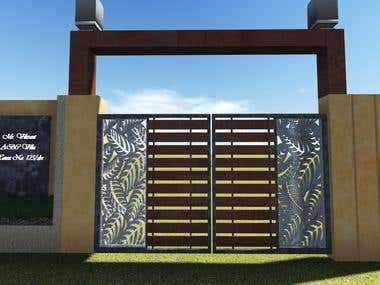 Gate Design for Mr. Vikrant,Nagpur India