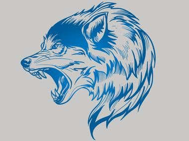 Photography converted to Vector Wolf for our client's demand