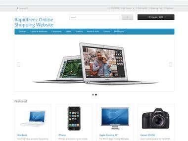Laravel eCommerce Site