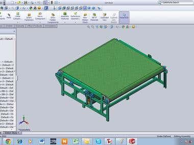 Machine design using solidworks