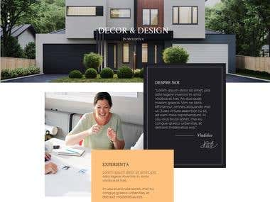 Design for Arhitectural Decor Website