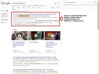 SE : Google.com.my, Web: Beritasemasa.com.my
