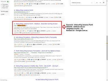 SE : Google.com.au, Country: Australia, Web: Kitebud.com.au