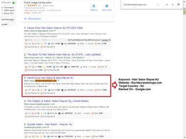 SE : Google.com, Country: USA, Web: Davidezrasalonspa.com
