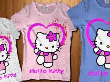 Desain Tshirt HelloKitty