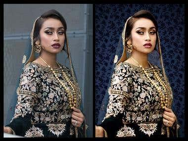 Bridal Photo Enhancement