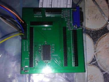 Assembled FPGA expansion board